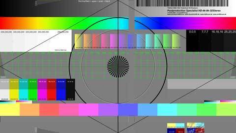 HD-Monitor-Testchart - neues Design