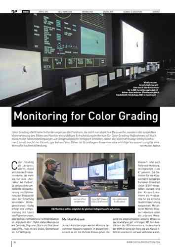 Artikel Digital Produktion - Monitoring für Colorgrading